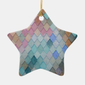 Ornamento De Cerâmica Azulejos de telhado coloridos - PaintingZ