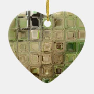 Ornamento De Cerâmica Azulejos do vidro verde