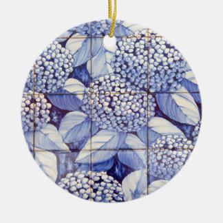 Ornamento De Cerâmica Azulejos florais