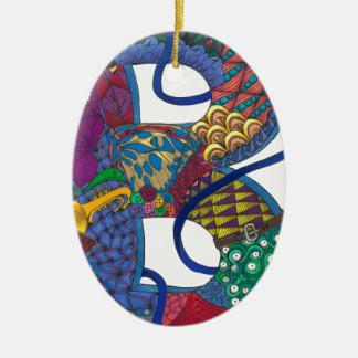 Ornamento De Cerâmica B turbulento