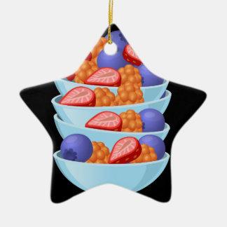Ornamento De Cerâmica Bacia da baga da comida do pulso aleatório