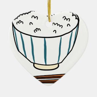 Ornamento De Cerâmica Bacia de arroz japonesa