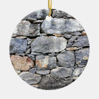 Ornamento De Cerâmica Backgound de pedras naturais como a parede