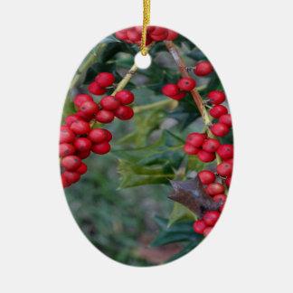 Ornamento De Cerâmica Baga do azevinho