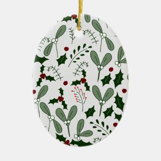 Ornamento De Cerâmica Bagas do inverno
