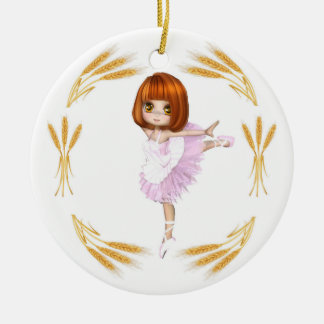 Ornamento De Cerâmica Bailarina