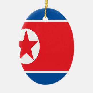 Ornamento De Cerâmica Baixo custo! Bandeira da Coreia do Norte