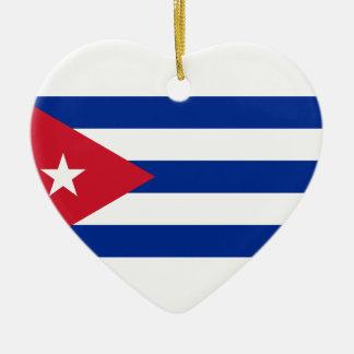 Ornamento De Cerâmica Baixo custo! Bandeira de Cuba