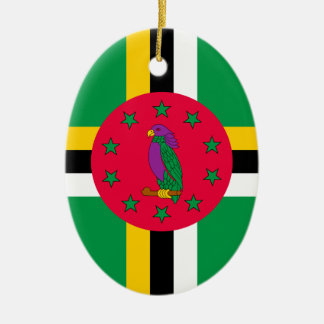 Ornamento De Cerâmica Baixo custo! Bandeira de Dominica