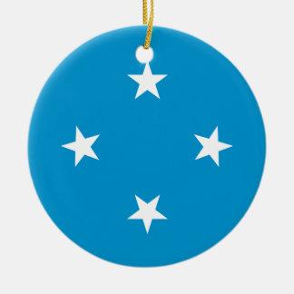 Ornamento De Cerâmica Baixo custo! Bandeira de Federated States of