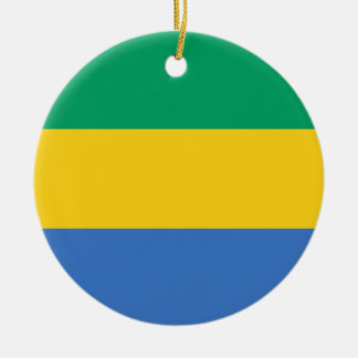 Ornamento De Cerâmica Baixo custo! Bandeira de Gabon