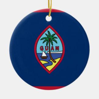 Ornamento De Cerâmica Baixo custo! Bandeira de Guam