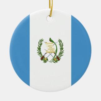 Ornamento De Cerâmica Baixo custo! Bandeira de Guatemala