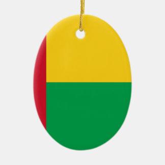 Ornamento De Cerâmica Baixo custo! Bandeira de Guiné-Bissau