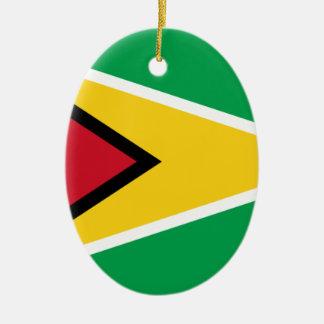 Ornamento De Cerâmica Baixo custo! Bandeira de Guyana
