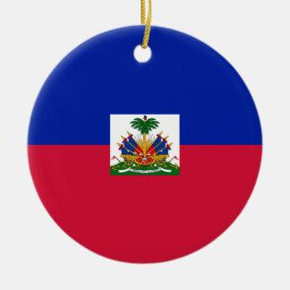 Ornamento De Cerâmica Baixo custo! Bandeira de Haiti