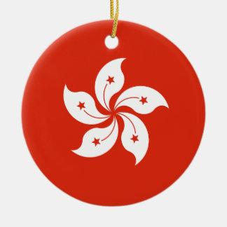 Ornamento De Cerâmica Baixo custo! Bandeira de Hong Kong