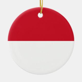 Ornamento De Cerâmica Baixo custo! Bandeira de Indonésia