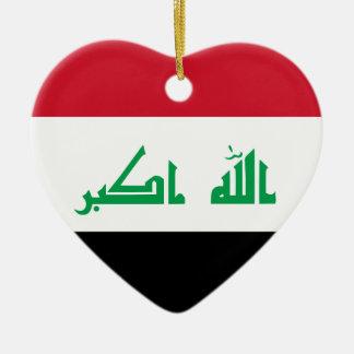 Ornamento De Cerâmica Baixo custo! Bandeira de Iraque