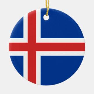 Ornamento De Cerâmica Baixo custo! Bandeira de Islândia