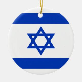 Ornamento De Cerâmica Baixo custo! Bandeira de Israel