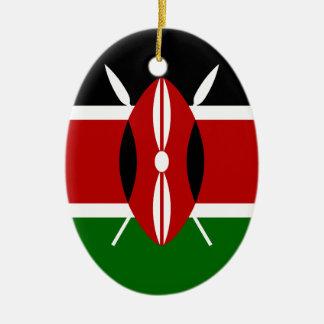 Ornamento De Cerâmica Baixo custo! Bandeira de Kenya