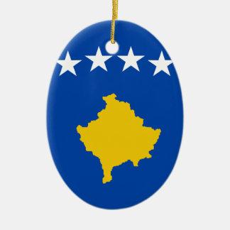 Ornamento De Cerâmica Baixo custo! Bandeira de Kosovo
