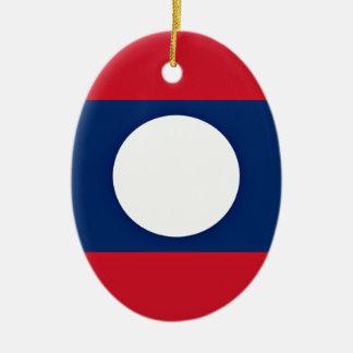 Ornamento De Cerâmica Baixo custo! Bandeira de Laos
