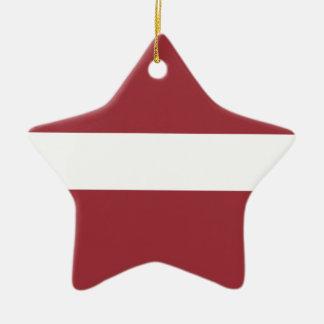 Ornamento De Cerâmica Baixo custo! Bandeira de Latvia