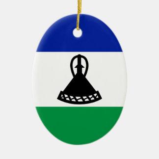 Ornamento De Cerâmica Baixo custo! Bandeira de Lesotho
