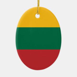 Ornamento De Cerâmica Baixo custo! Bandeira de Lithuania