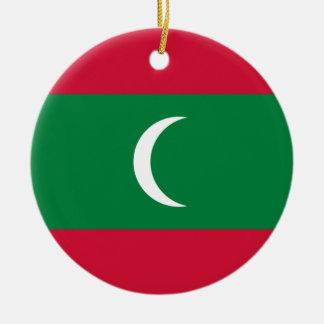 Ornamento De Cerâmica Baixo custo! Bandeira de Maldives