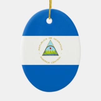 Ornamento De Cerâmica Baixo custo! Bandeira de Nicarágua