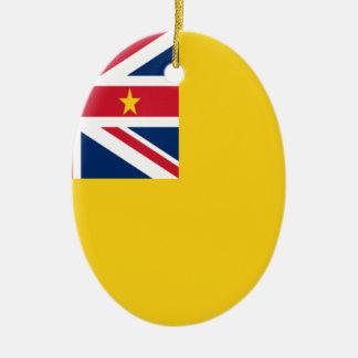 Ornamento De Cerâmica Baixo custo! Bandeira de Niue