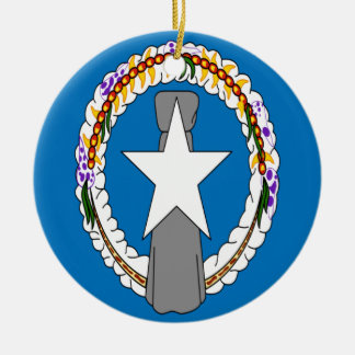 Ornamento De Cerâmica Baixo custo! Bandeira de Northern Mariana Islands