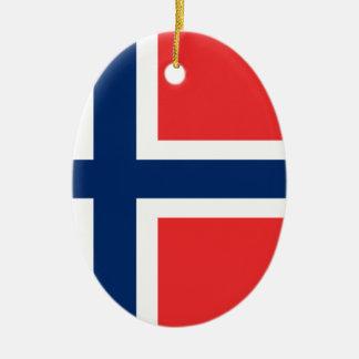 Ornamento De Cerâmica Baixo custo! Bandeira de Noruega