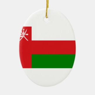 Ornamento De Cerâmica Baixo custo! Bandeira de Oman