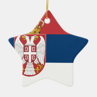 Ornamento De Cerâmica Baixo custo! Bandeira de Serbia