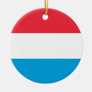 Ornamento De Cerâmica Baixo custo! Luxembourg embandeira