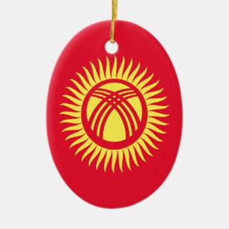Ornamento De Cerâmica Baixo custo! Quirguistão embandeira