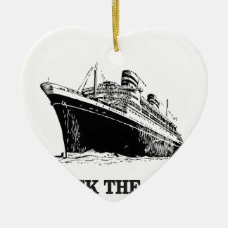 Ornamento De Cerâmica balance o barco grande