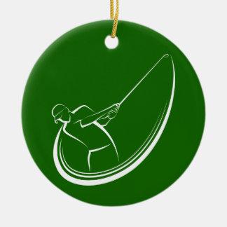 Ornamento De Cerâmica Balanço masculino do jogador de golfe