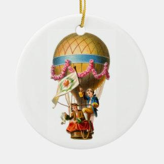 Ornamento De Cerâmica Balão de ar quente