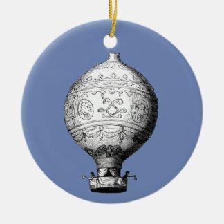 Ornamento De Cerâmica Balão de ar quente do vintage de Montgolfier