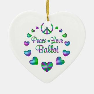 Ornamento De Cerâmica Balé do amor da paz
