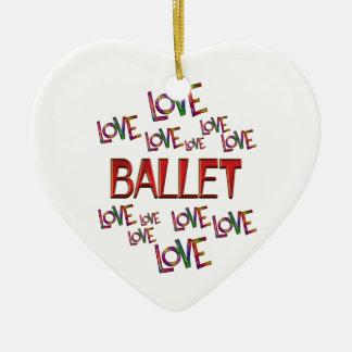 Ornamento De Cerâmica Balé do amor do amor