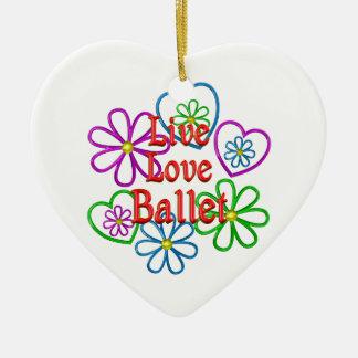 Ornamento De Cerâmica Balé vivo do amor