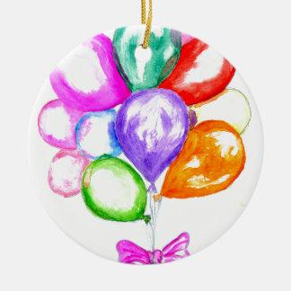 Ornamento De Cerâmica Balões coloridos infláveis