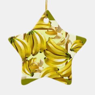 Ornamento De Cerâmica bananas amarelas