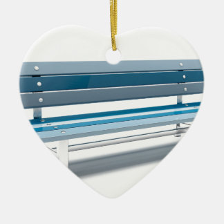Ornamento De Cerâmica Banco azul